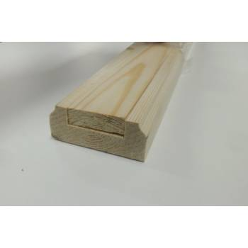 Pine Baserail Richard Burbidge 32mm Groove Timber Wooden