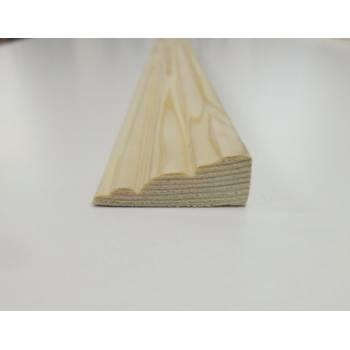 Barrel Pine decorative trim moulding 34x12mm 2.4m beading wooden timber