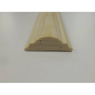 Double Astragal Pine decorative trim moulding 34x12mm 2.4m b...