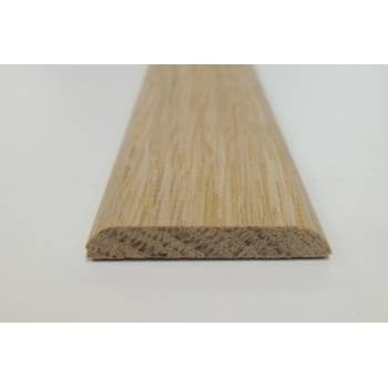 Oak D Mould trim shape decorative moulding 34x6mm 2.4m bead wooden timber edging