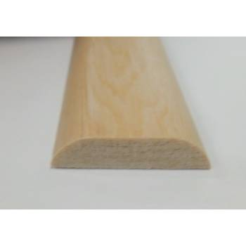 D Shape decorative trim moulding 34x8mm 2.4m beading wooden timber twice round