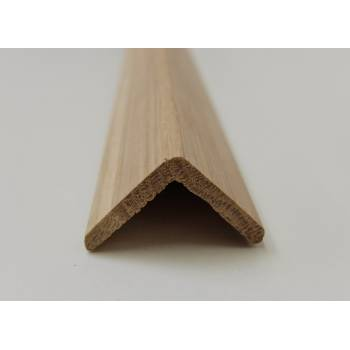 Angle Oak cushion corner trim moulding 33x33mm 2.4m beading wooden timber edging