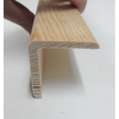 Angle pine cushion corner trim moulding 40x40mm 2.4m bead wo...