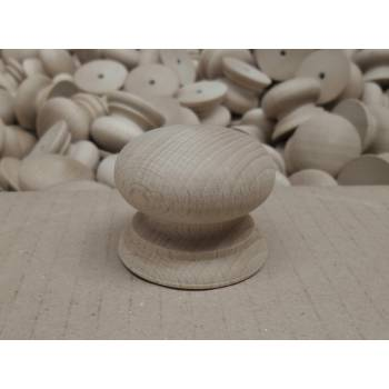 45mm Diameter Wooden Timber Solid Hemlock Cupboard Drawer Knobs