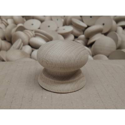 45mm Diameter Wooden Timber Solid Hemlock Cupboard Drawer Knobs - Pack Size: