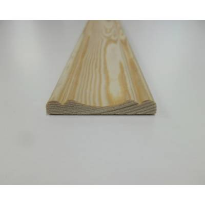 Cover Mould Pine decorative trim moulding 45x7mm 2.4m beadin...