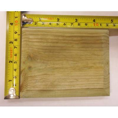 "Treated Cap For 4x3"" Fence Post Flat Pattress Pyramid D..."