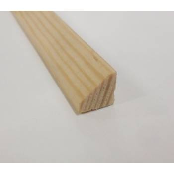Wedge bead pine decorative trim moulding 9x9mm 2.4m wooden timber edging