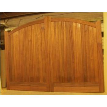 "Bespoke Sapele Arched Gates 84""x144"" Hardwood Wooden Timber Driveway"