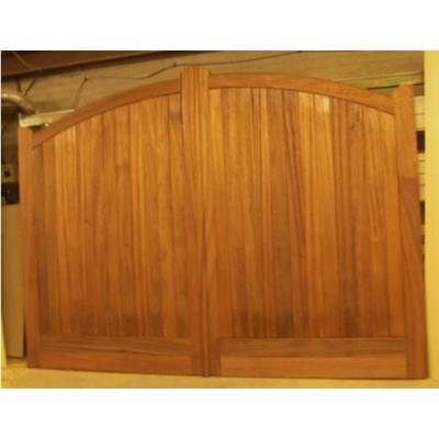 "Bespoke Sapele Arched Gates 84""x108"" Hardwood Wooden Timber Driveway"
