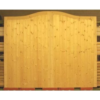 "Softwood Arched Gates 84""x132"""