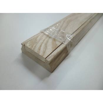 Ash Stair Baserail Hardwood Richard Burbidge 41mm Groove Wooden Timber