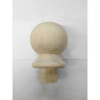 Pine Ball Cap For Stair Newel Post Softwood Wooden Timber Balustrade