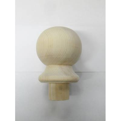 Pine Ball Cap For Stair Newel Post Softwood Wooden Timber Ba...