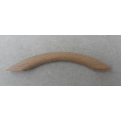 Beech Bow Pull 165mm Cupboard Cabinet Knob Handle Door Drawer Wooden Timber - Pack Size: