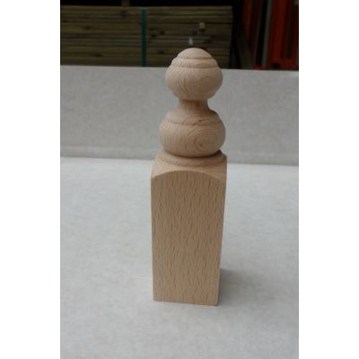 Corner Block Beech Finial Kitchen Knobs Wooden Timber - Pack Size: