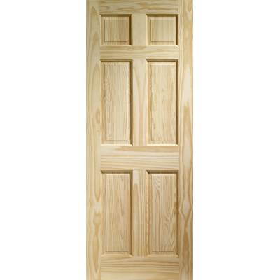 Pine Colonial 6 Panel Internal Door Wooden Timber Interior -...