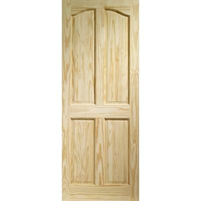 Pine Rio 4 Panel Internal Door Wooden Timber Interior - Size...