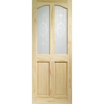 Pine Rio Glazed Internal Door Wooden Timber Interior - Size,...