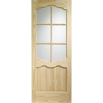 Pine Riviera Glazed Internal Door Wooden Timber Interior - D...