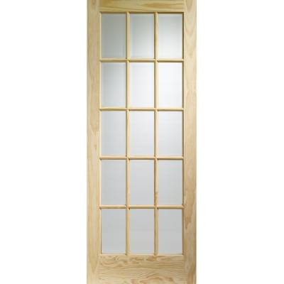 Pine SA77 Glazed Internal Door Wooden Timber Interior - Size...