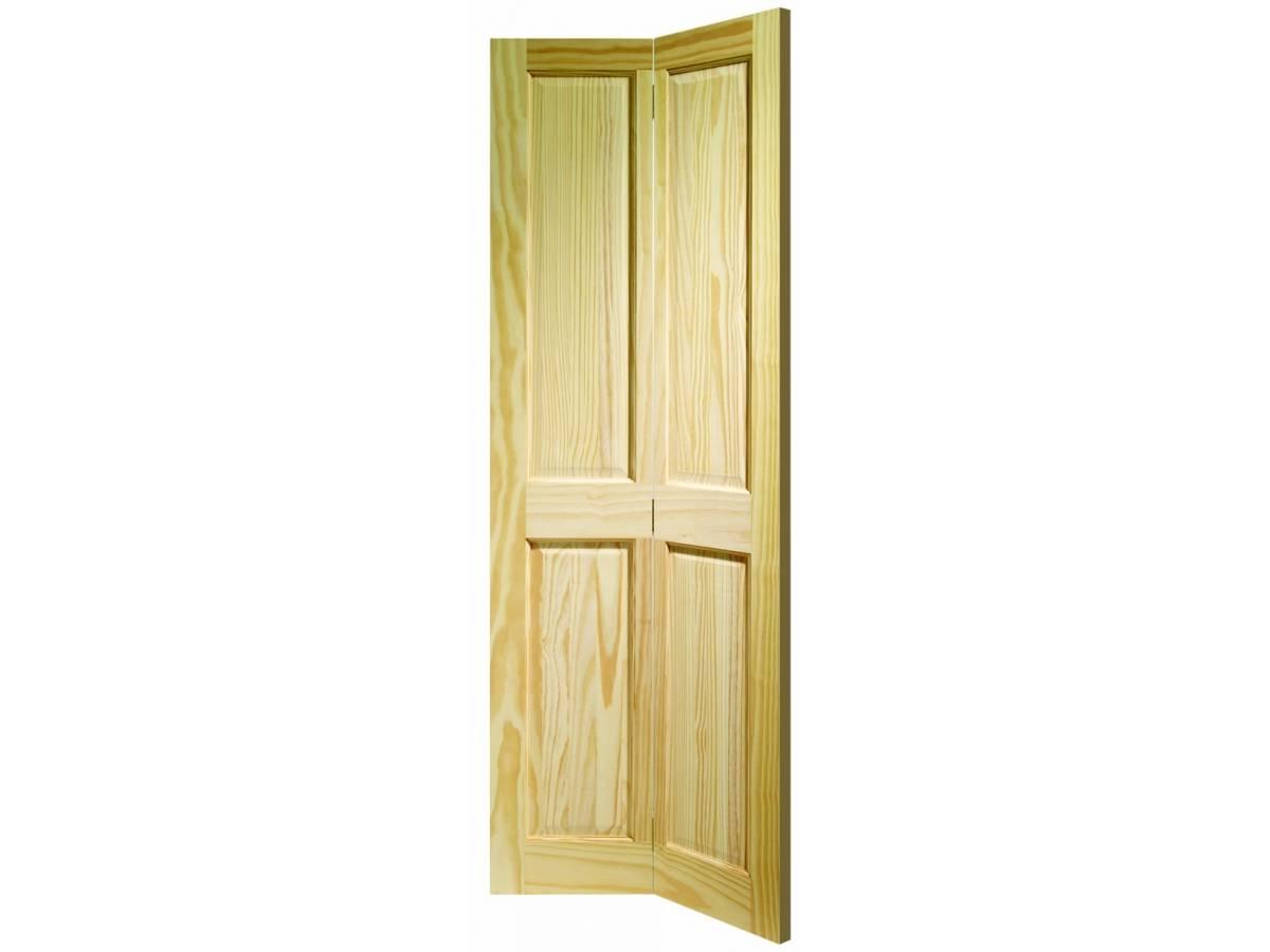 Clear Pine Victorian 4 Panel Internal Bi Fold Bifold Door Wooden