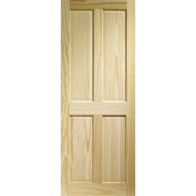 Pine Victorian 4 Panel Internal Door Wooden Timber Interior ...