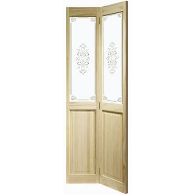Clear Pine Victorian Campion Glazed Internal Bi-fold Bifold Door Wooden Timber Interior - Door Size, HxW: