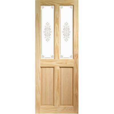 Pine Victorian Campion Glazed Internal Door Wooden Timber In...