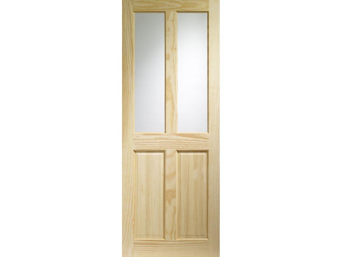 Pine Victorian Clear Glazed Internal Door Wooden Timber Interior