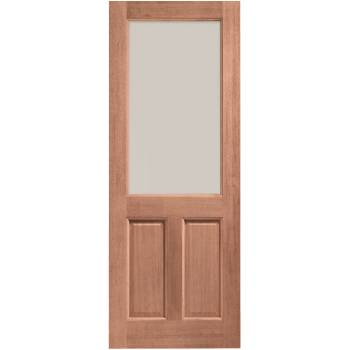 Hardwood 2XG  External Door Wooden Timber Clear Double Glazed 78x30 80x32 78x33