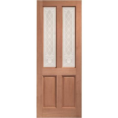 Hardwood Malton External Door Wooden Single Glazed 78x30 80x...