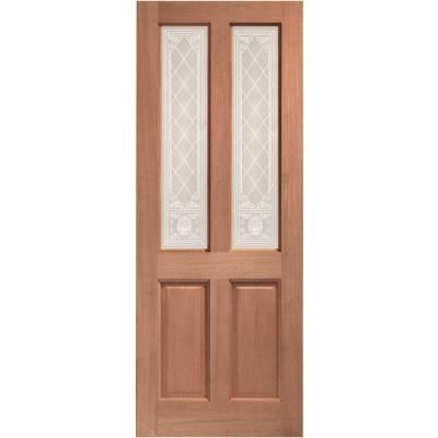 Hardwood Malton External Door Wooden Single Glazed 78x30 80x...