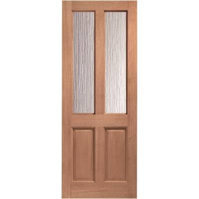 Hardwood Malton External Door Wooden Obscure Double Glazed 7...