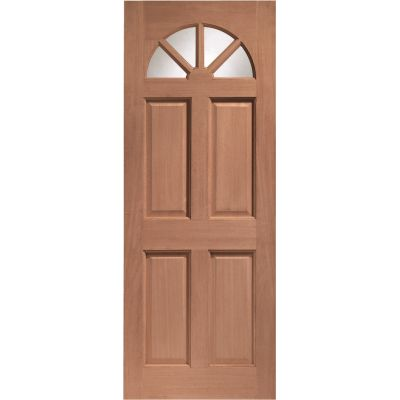 Hardwood Carolina External Door Wooden Clear Single Glazing ...