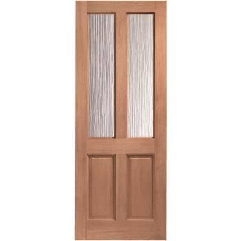 Hardwood Malton External Door Wooden Obscure Single Glazed 78x30 80x32 78x33