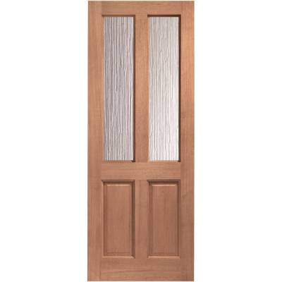 Hardwood Malton External Door Wooden Obscure Single Glazed  - Door Size, HxW: