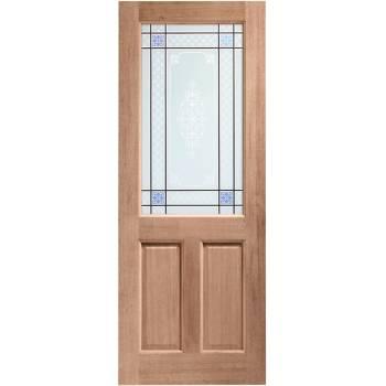 Hardwood 2XG External Door Wooden Timber Carroll Single Glazed
