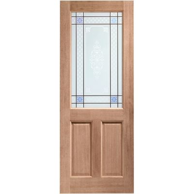 Hardwood 2XG External Door Wooden Timber Carroll Single Glazed - Door Size, HxW:
