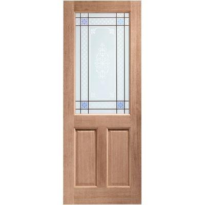 Hardwood 2XG External Door Wooden Timber Carroll Single Glaz...