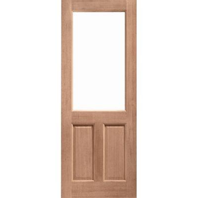 Hardwood 2XG External Door Wooden Timber Unglazed 78x30 80x3...