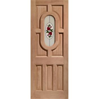 Hardwood Acacia External Door Wooden Byron Single Glazed 78x30 80x32 78x33