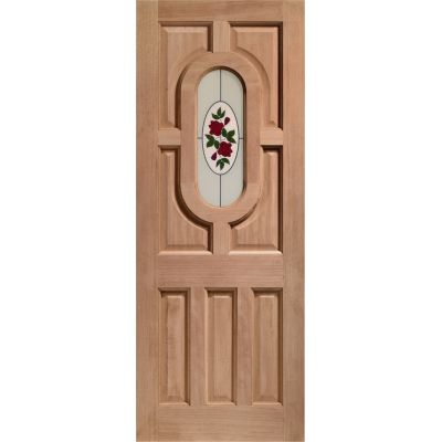 Hardwood Acacia External Door Wooden Byron Single Glazed - D...