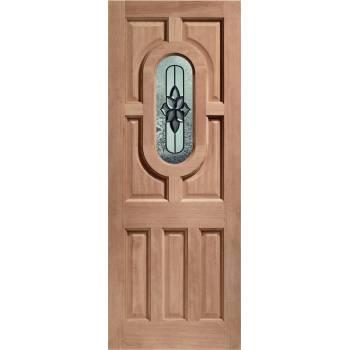 Hardwood Acacia External Door Wooden Chesterton Double Glazed 78x30 80x32 78x33