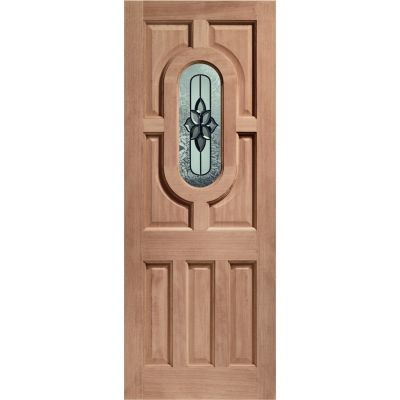 Hardwood Acacia External Door Wooden Chesterton Double Glazed - Door Size, HxW:
