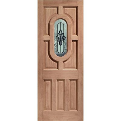 Hardwood Acacia External Door Wooden Chesterton Double Glaze...