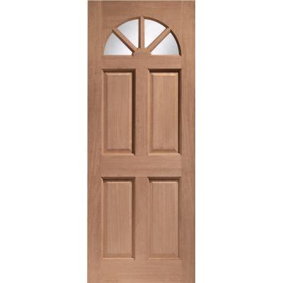 Hardwood Carolina External Door Wooden Unglazed 78x30 80x32 ...