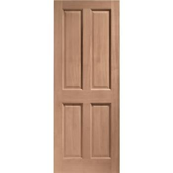 Hardwood London 4 Panel External Door Wooden 4P Victorian
