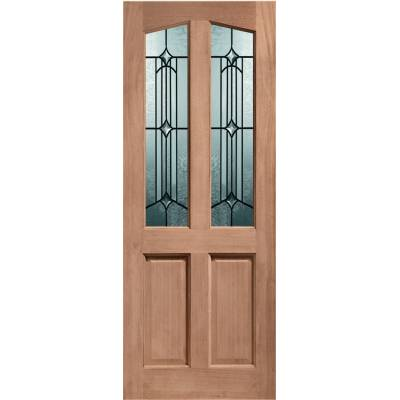 Hardwood Richmond External Door Timber Donne Double Glazed - Door Size, HxW: