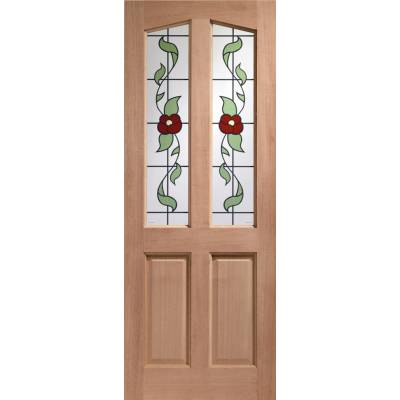 Hardwood Richmond External Door Timber Keats Single Glazed - Door Size, HxW: